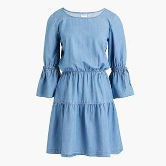 J.Crew Factory Tiered chambray dress