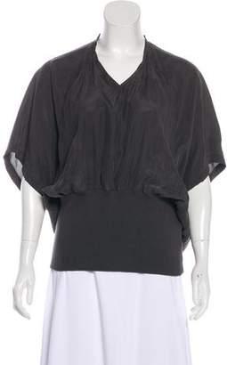 MM6 MAISON MARGIELA Silk Short Sleeve Top