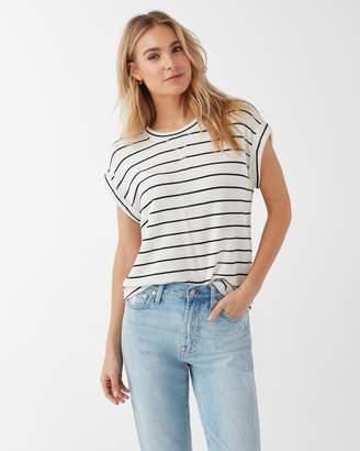 Splendid Super Soft French Terry Stripe Short Sleeve Pullover
