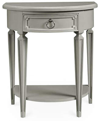 Stone & Leigh Fluted Single Drawer Nightstand - Gray