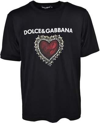 Dolce & Gabbana Heart Crest Print T-shirt