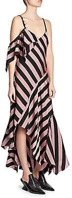 Marques Almeida Marques'Almeida Marques'Almeida Women's Asymmetrical Striped Midi Dress
