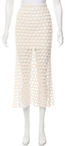 IROIro Open Knit Midi Skirt