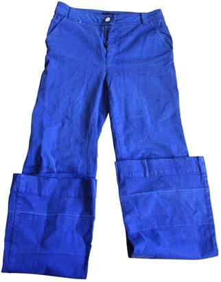 Et Vous Blue Cotton Jeans for Women