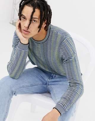 Asos Design DESIGN MULTICOLOR striped crew neck sweater