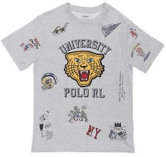 Ralph Lauren TIGER PRINT COTTON JERSEY T-SHIRT