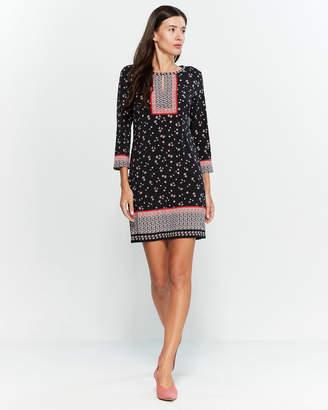 Max Studio Printed Quarter Sleeve Dress