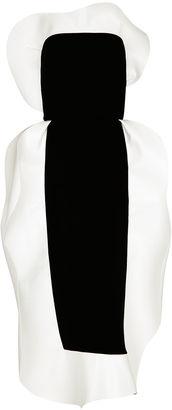 Black & White Tuxedo Frill Dress