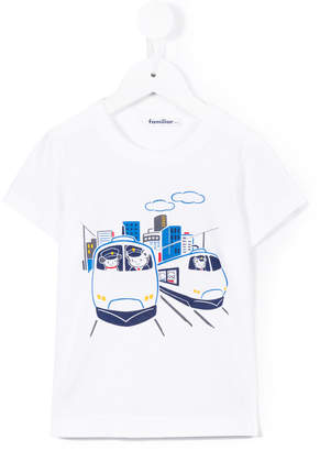 Familiar train print T-shirt