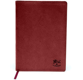 Il Bisonte Cowhide Leather Agenda Cover, Red
