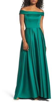 Mac Duggal IEENA FOR Mikado Off the Shoulder Gown