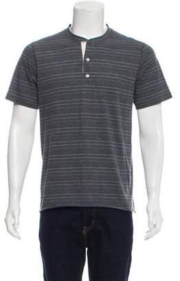 Billy Reid Striped Henley T-Shirt w/ Tags