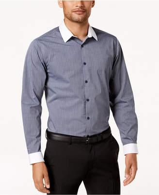 INC International Concepts I.n.c. Men's Striped Banker Shirt Shirt, Created for Macy's