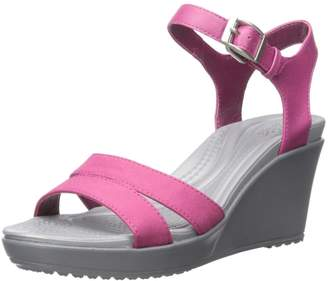 Crocs Women's Leigh II Ankle Strap Wedge Sandal