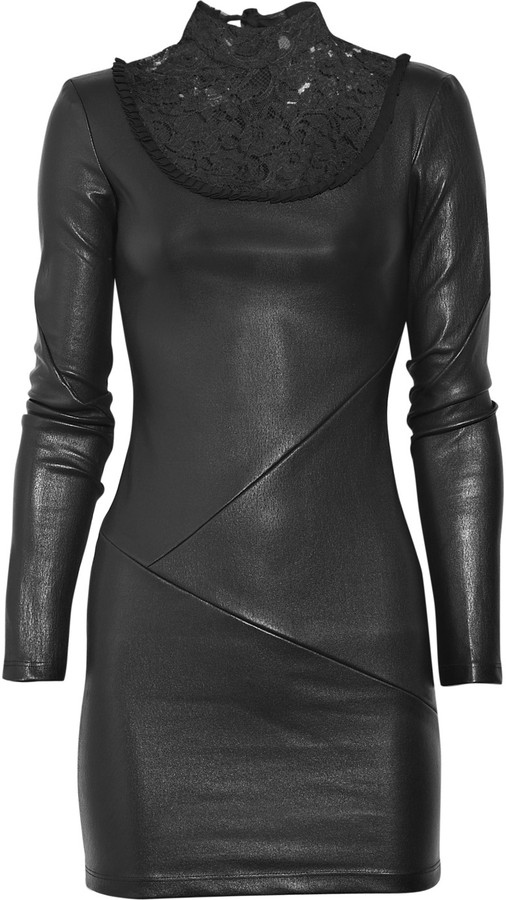 Bess Leather and lace dress