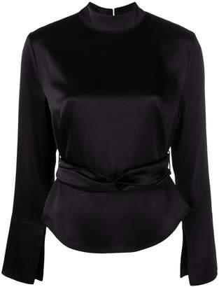 Nanushka belted blouse