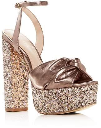 8f191286864 Rachel Zoe Claudette Glitter High Block-Heel Platform Sandals