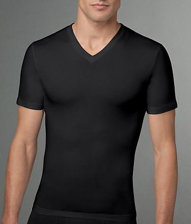 Spanx Cotton Compression V-Neck T-Shirt