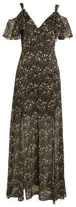 French Connection Hallie Cold Shoulder Maxi Dress