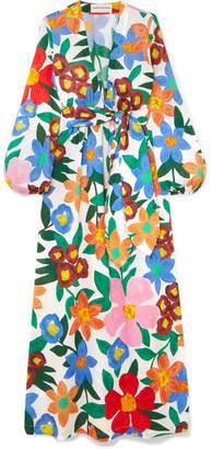 Mara Hoffman Luna Floral-print Organic Cotton Maxi Dress - Blue