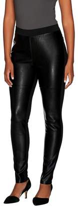 Dennis Basso Mixed Media Ponte and Faux Leather Leggings