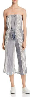 Elan International Striped Strapless Jumpsuit