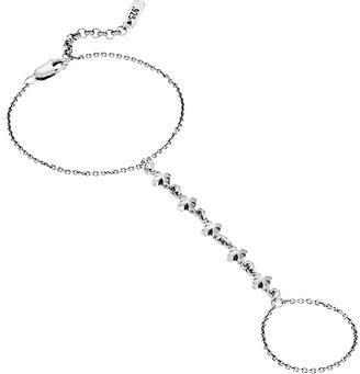 King Baby Studio - Hand Chain w/ Small MB Cross Motif Bracelet $215 thestylecure.com