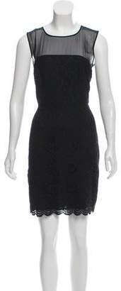 Diane von Furstenberg Semi-Sheer Mini Dress