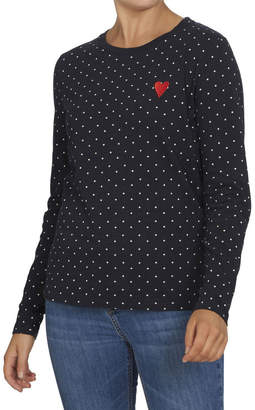 French Connection Spot Heart Longsleeve Tee