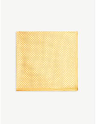 Eton Polka-dot silk pocket square