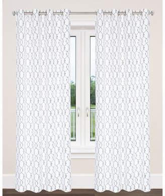 L.J Home York Trellis Geometric Semi-Sheer Panel Pair