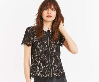 Oasis LACE COLLAR TOP