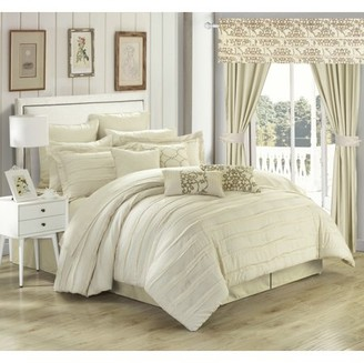 Chic Home Olivier 24 Piece Reversible Bed in a Bag Comforter Set