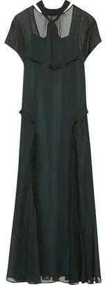 Cédric Charlier Open-Back Georgette Gown