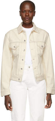 Helmut Lang White Denim Femme Trucker Jacket