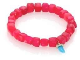 Sydney Evan Women's Diamond, Turquoise, Pink Chalcedony& 14K Yellow Gold Beaded Bracelet - Pink