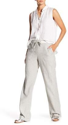 Susina Drawstring Linen Blend Pants (Regular & Petite)