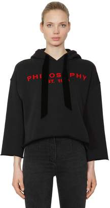 Philosophy di Lorenzo Serafini Logo Printed Hooded Cropped Sweatshirt