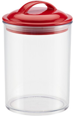 Container Store 28 oz. Color Pop Acrylic Canister Red Lid