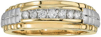 Rolex MODERN BRIDE Mens 1/4 CT. T.W. Diamond 10K Yellow Gold Side Ring