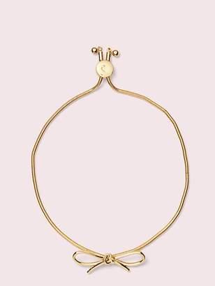 Kate Spade Heavy Metals Bow Slider Bracelet, Gold