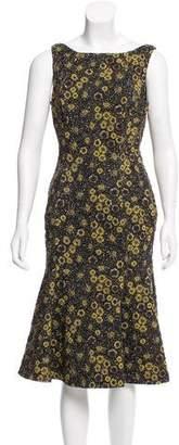 Rochas Brocade Midi Dress
