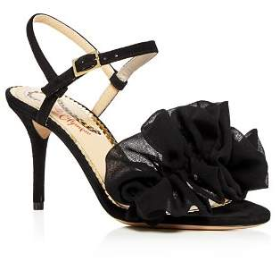Charlotte Olympia Women's Reia Suede & Organza Slingback High-Heel Sandals