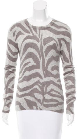 EquipmentEquipment Zebra Print Cashmere Sweater