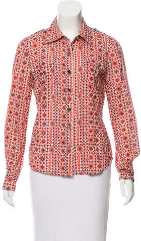 Tory BurchTory Burch Abstract Button-Up Top
