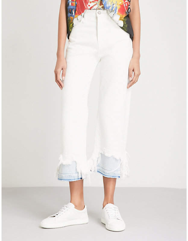 Camille destroyed slim-fit straight mid-rise jeans
