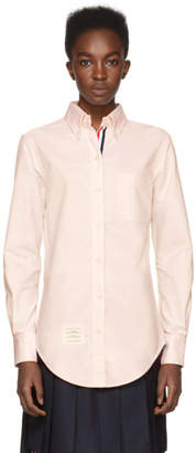 Thom Browne Pink Classic Button-Down Point Collar Shirt
