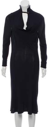 Versace Long Sleeve Knee-Length Dress
