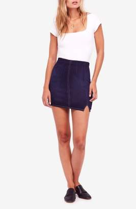 Free People Femme Fatale Stretch Denim Miniskirt