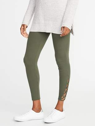 Old Navy Lattice-Hem Ankle Leggings for Women